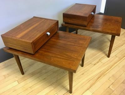 Pair of Side Tables by Merton Gershun for American of Martinsville