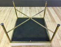 Paul McCobb Stool - Brass Legs, White Cushion