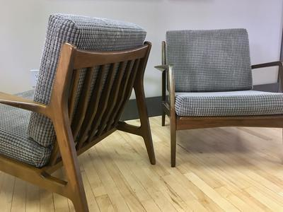 Pair of Danish Lounge Chairs by lb Kofod Larsen Selig