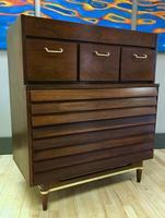 Dania Line Highboy Chest by Merton Gershun for American of Martinsville