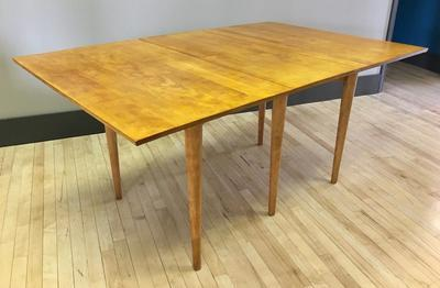 Solid Birch Dining Table by Russel Wright for Conant Ball