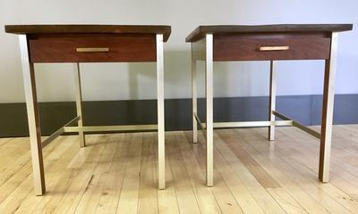 Pair of End / Side Tables by Paul McCobb for Calvin