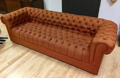 Orange Sofa by Chesterfield from 1969
