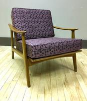 Vintage Danish Lounge Chair w/ New Cushions & Straps
