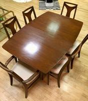 kent coffey perspecta dining set - reupholstered chairs
