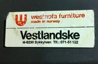 Tag for Westnofa Chaise Lounge Chair by Ingmar Relling