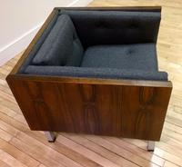 Rosewood Danish Case Chair reupholstered in Wool