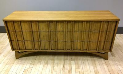 Credenza with Sculpted Hardwood Pulls