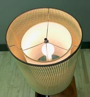 Teak Laurel Mid Century Lamp with Double Lamp Shade