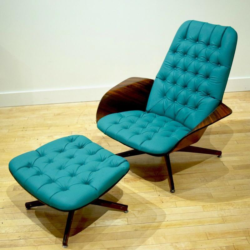 Astounding George Mulhauser Mr Chair New Leather Mid Century Mcm Ibusinesslaw Wood Chair Design Ideas Ibusinesslaworg