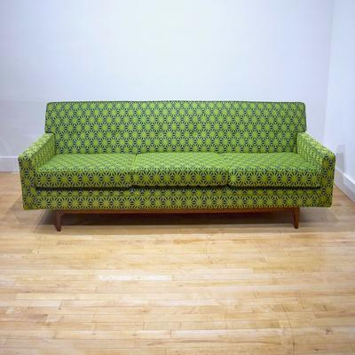 Sofa with Walnut Base front