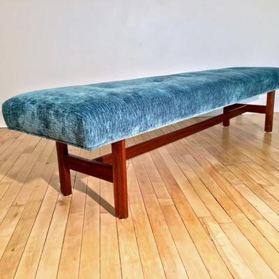 6ft Teal Bench angle