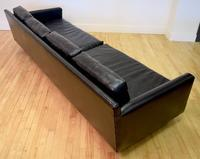 Black vinyl sofa back