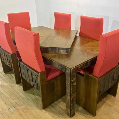 Lane Brutalist Dining Set
