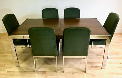 Vintage Baughman style Dining Set w/ Table & 6 Chairs