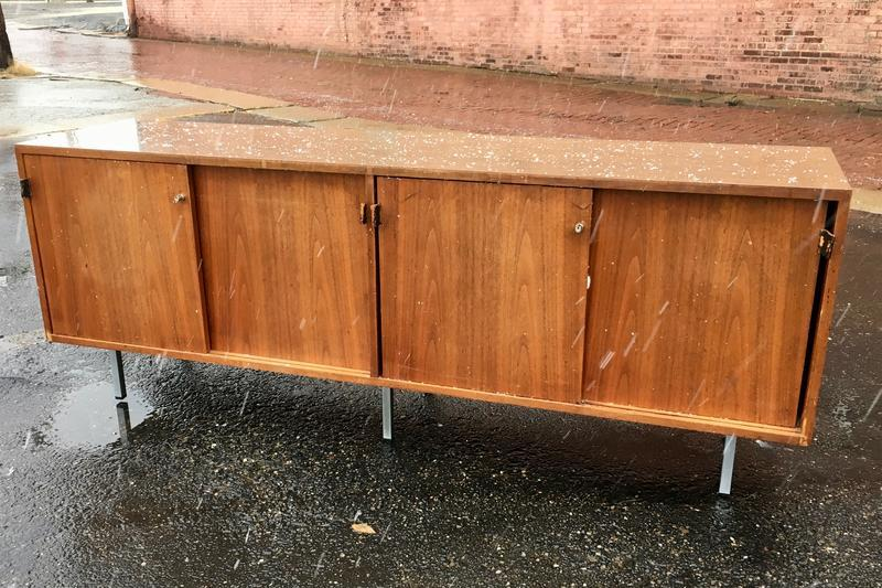 Credenza With Sliding Doors By Florence Knoll Mid Century Modern Credenzas For Sale Sweet Modern Akron Oh