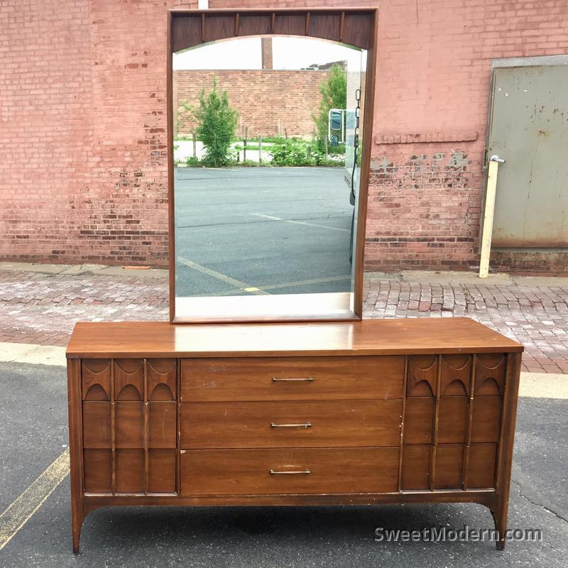 Kent Coffey Perspecta Dresser Mirror Midcentury Bedroom Sets For Sale Sweet Modern Akron Oh